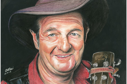 Artwork Reprint - Slim Dusty in Colour
