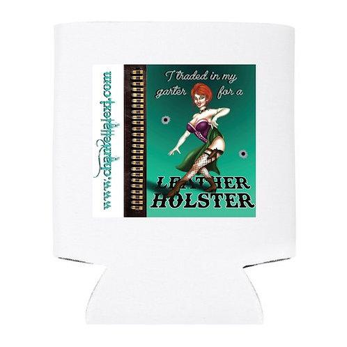 Leather Holster Pinup Girl Stubby Holder