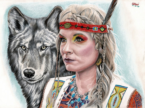 Spirit Animal Portrait Drawing