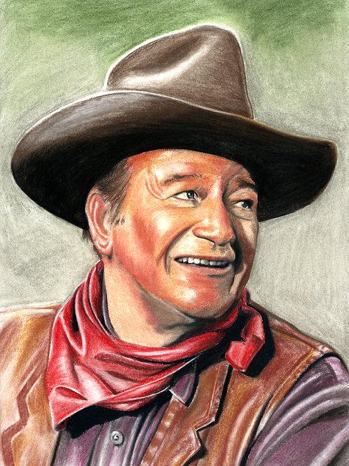 Artwork Reprint - John Wayne in colour