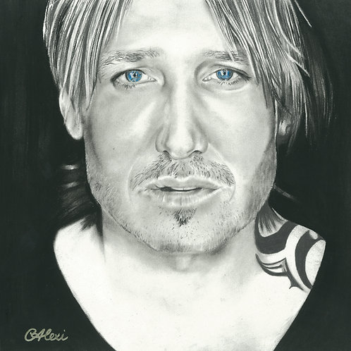 Original Charcoal Drawing By Chantell Alexi - Keith Urban Portrait