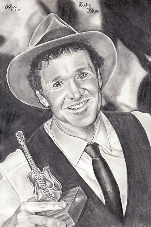 Original Pencil Drawing Of Luke O'Shea