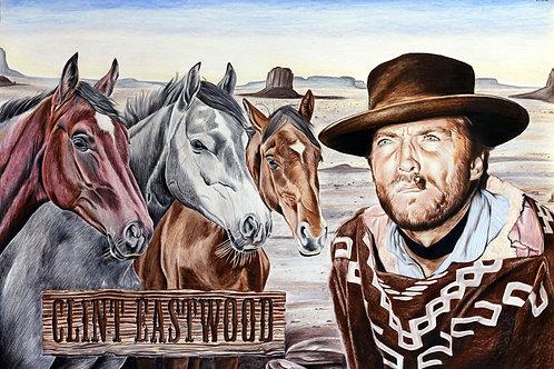 Artwork Reprint - Clint Eastwood in Colour