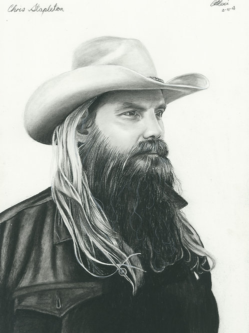Original Portrait of Chris Stapleton by Artist Chantell Alexi