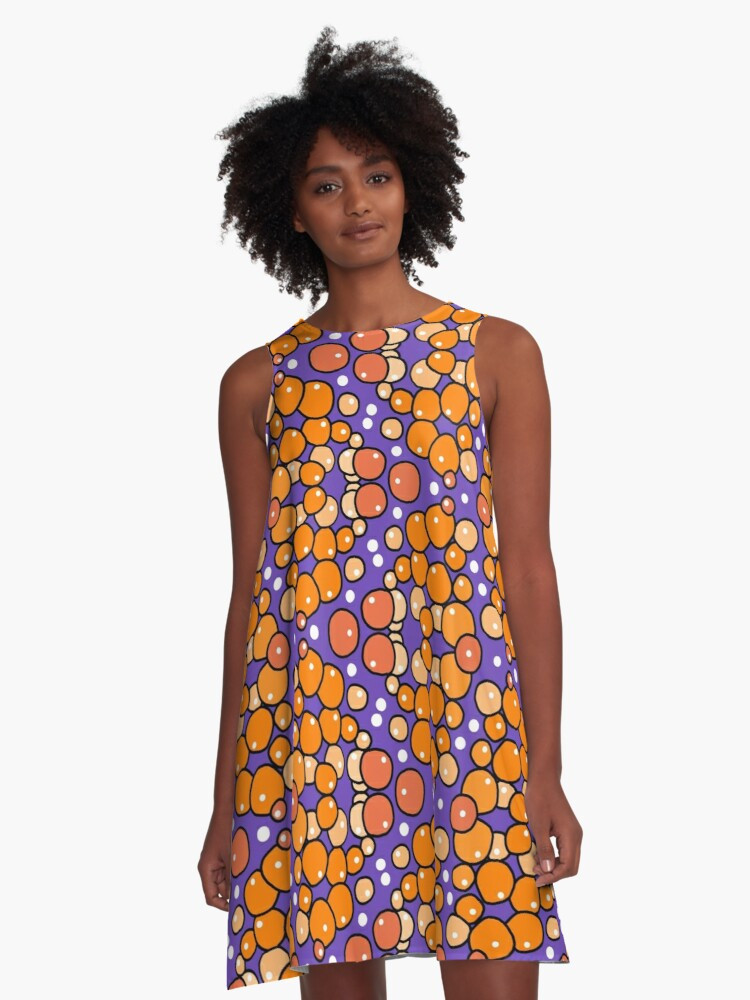Orange Bubble A-Line Dress