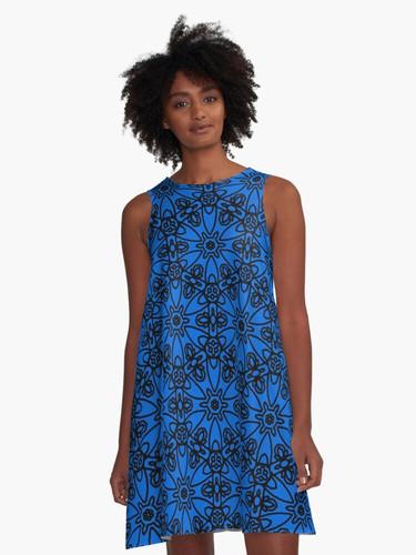 Black Lace A-Line Dress