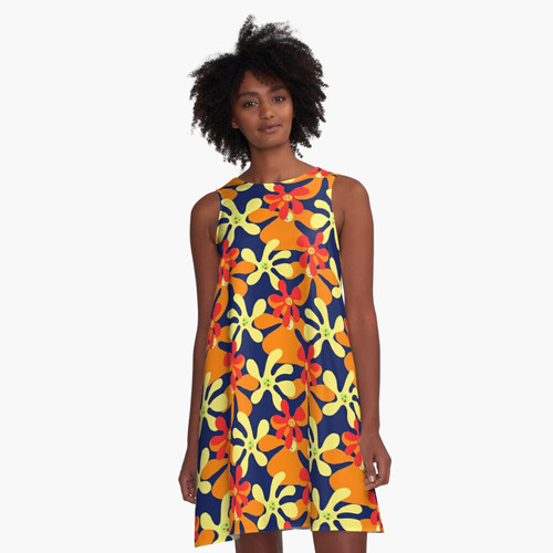 Psychedelic spot of colors 60s design Graphic T-Shirt Dress