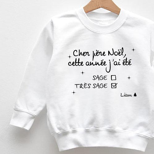 "Sweat ""CHER PÈRE NOËL"""
