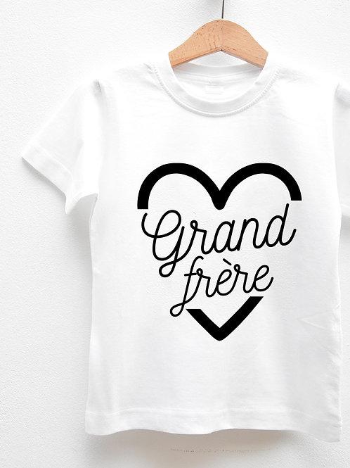 Tee-Shirt Manches Courtes « GRAND FRÈRE COEUR »