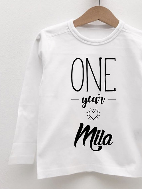 Tee-Shirt Manches Longues « BIRTHDAY GIRL »
