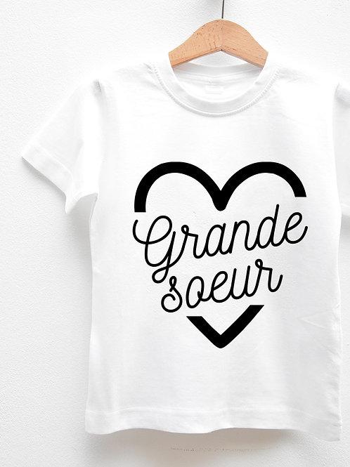 Tee-Shirt Manches Courtes « GRANDE SOEUR COEUR »