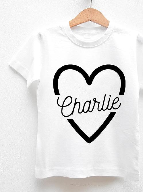 Tee-Shirt Manches Courtes « PRÉNOM COEUR »