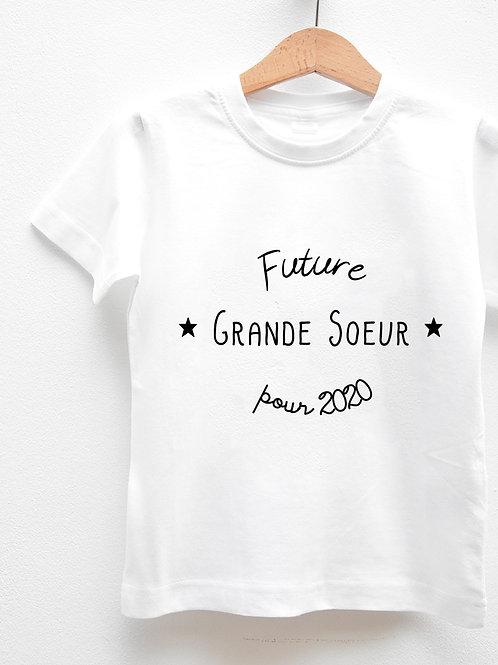 Tee-Shirt Manches Courtes « FUTURE GRANDE SOEUR POUR ... »