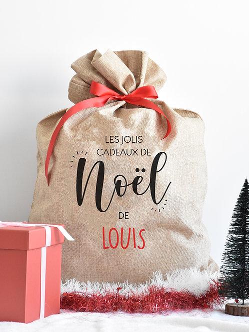 """Hotte Jute """"Les Jolis Cadeaux"""""""