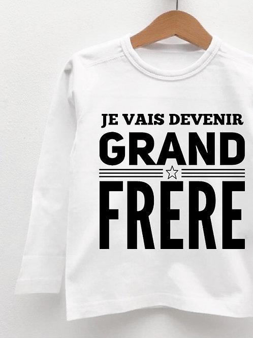 Tee-Shirt Manches Longues « JE VAIS DEVENIR GRAND FRÈRE »