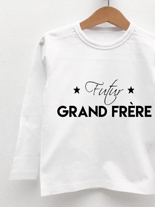 Tee-Shirt Manches Longues « FUTUR GRAND FRÈRE »