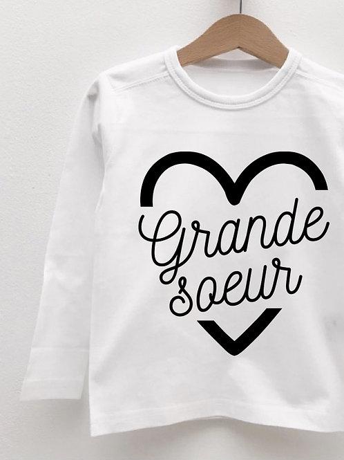 Tee-Shirt Manches Longues « GRANDE SOEUR COEUR »
