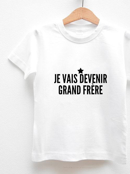 Tee-Shirt Manches Courtes « JE VAIS DEVENIR GRAND FRÈRE »