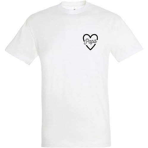 "Tee-Shirt Homme ""PAPA COEUR"""