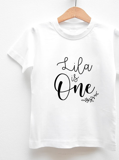 """Tee-Shirt Manches Courtes « BABY IS ONE"""""""