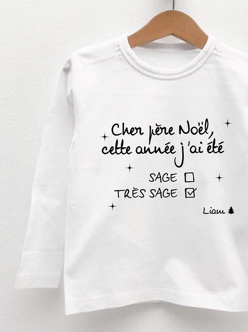 Tee-Shirt Manches Longues « CHER PÈRE NOËL »