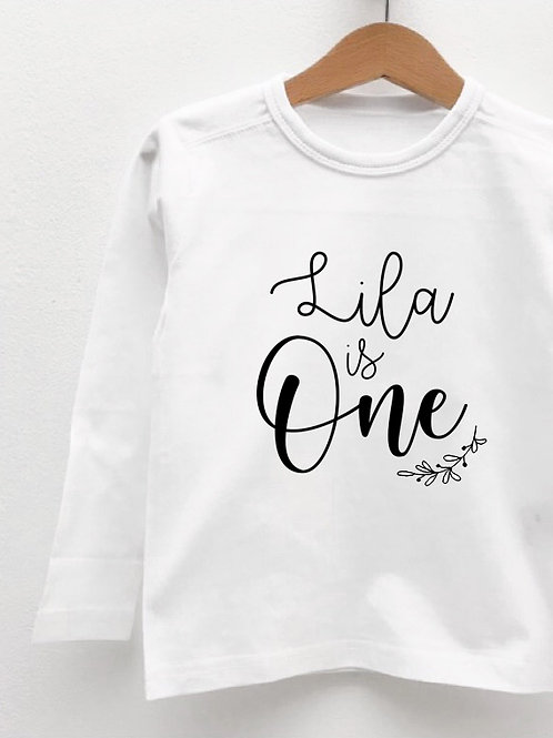 Tee-Shirt Manches Longues « BABY IS ONE »
