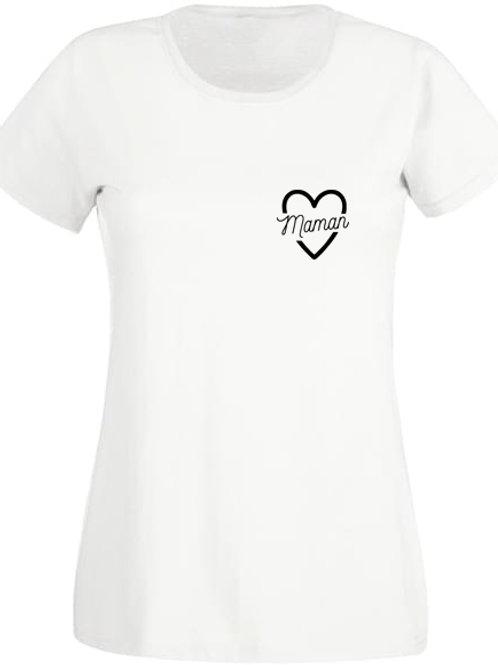 """Tee-Shirt Femme """"MAMAN COEUR"""""""