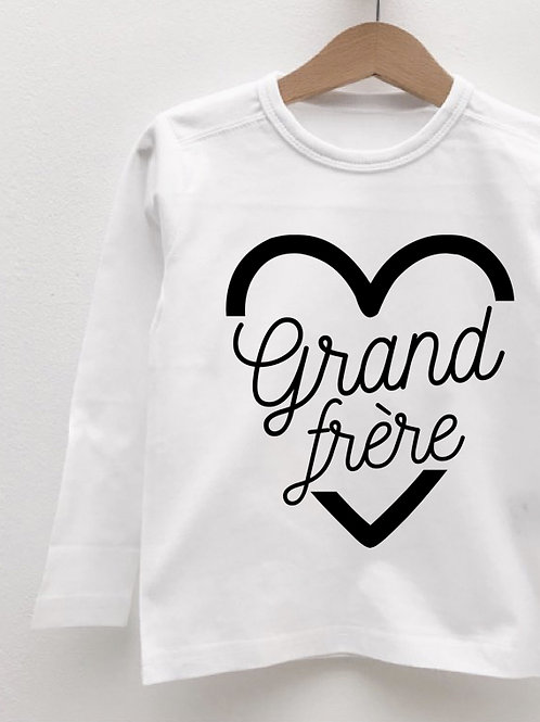 Tee-Shirt Manches Longues « GRAND FRÈRE COEUR »