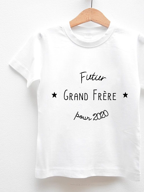 Tee-Shirt Manches Courtes « FUTUR GRAND FRÈRE POUR ... »