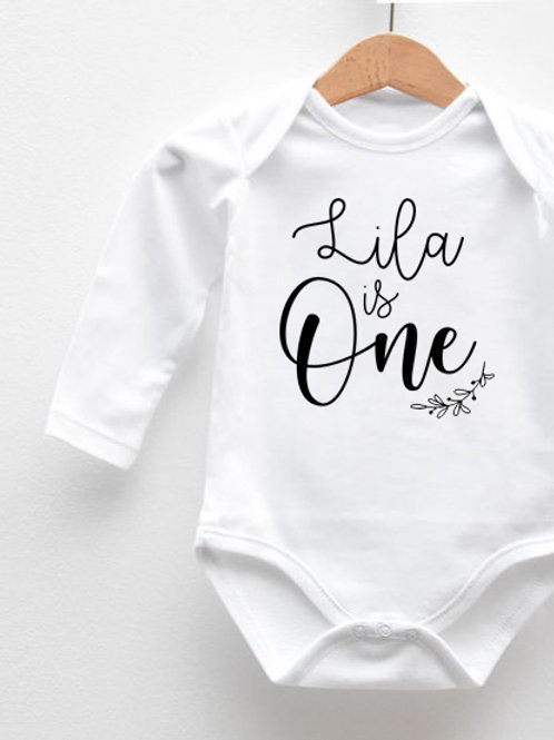 Body Manches Longues « BABY IS ONE »