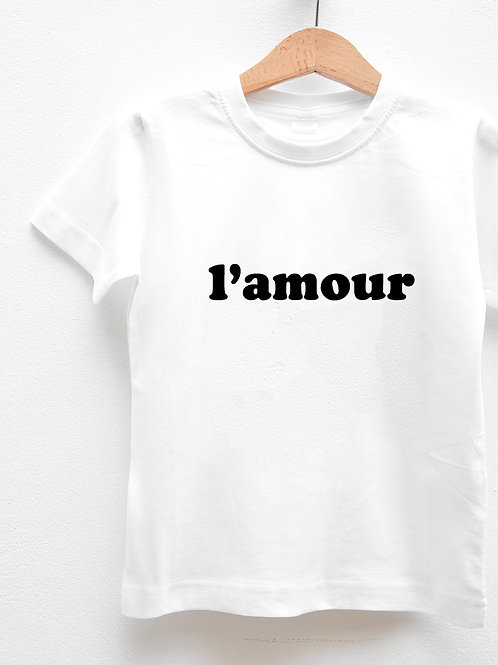 Tee-Shirt Manches Courtes « L'AMOUR »