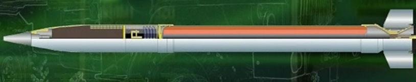 9м522мб Дальнобойный (34 км) реактивный снаряд с отделяемой осколочно-фугасной боевой частью повышенного могущества