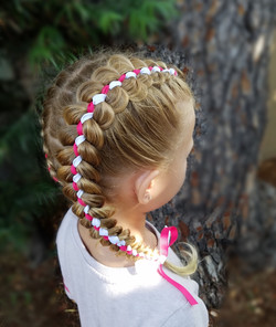 Five strand ribbon braid style