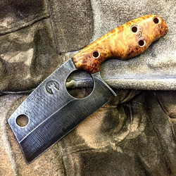 Hey _lightside11 , your custom cleaver is turning out pretty not bad! The stabilized Aspen burl is r