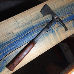 Tomahawk from old hammer