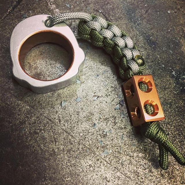 CACTOFAB mini knuck with lanyard and the new copper SQUAREBEAD. First _I want that_ takes it for $50