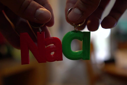 Ionic Compound Key Chains or Magnets