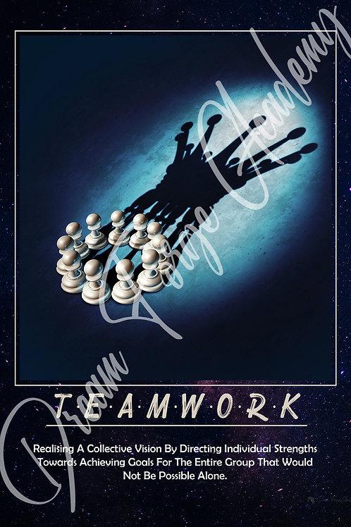 Teamwork Motivational Poster (Galaxy)