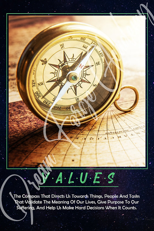 Values Motivational Poster (Galaxy)