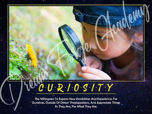 Curiosity Motivational Poster (Galaxy)
