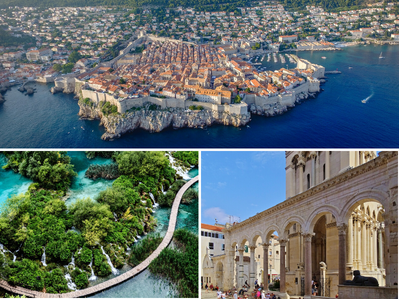Dubrovnik, the Diocletian Palace, and the Plitvice Lakes are among Croatia's most-visited sites.