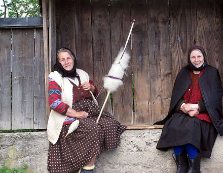 Old ladies in Maramures, Romania