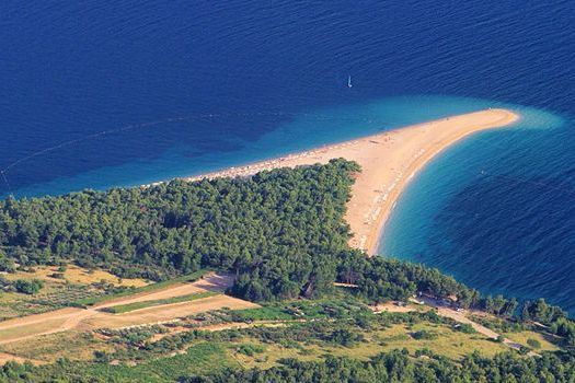 The iconic Zlatni Rat beach is one of Croatia's symbols.