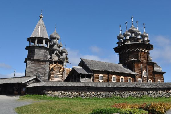 Wooden church with 22 domes constructed without a single nail