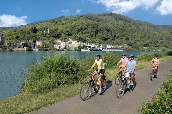 Choose the Rhine or Mosel rivers if you like scenic cycling.