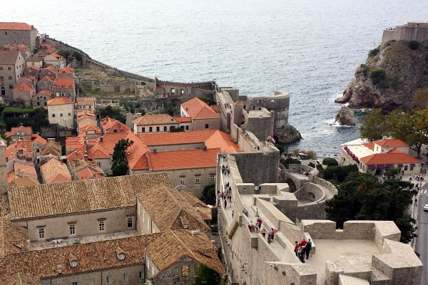 Avoid the crowds in Dubrovnik by touring early in the morning or late in the day!