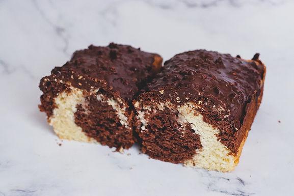 Marble cake loaf
