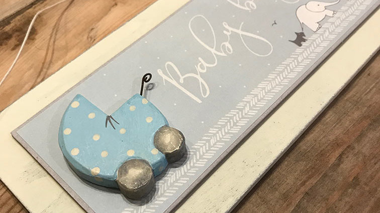 Hanging Sign 'Baby Boy'