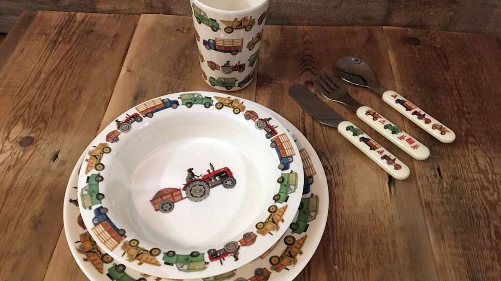 Emma Bridgewater Melamine Set Beaker, Bowl and Plate
