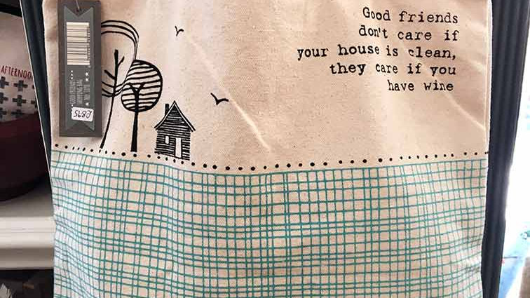 they care if you have wine (East of India Bag)